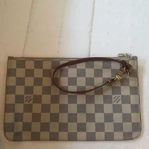 Auth. Louis Vuitton never full pouch